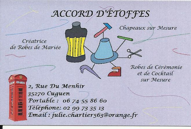 accord d'étoffes